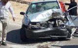 تصادف سه دستگاه خودرو در جاده دهلران-مهران