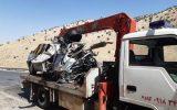 تصادف کامیون با پژو در جاده ایلام-مهران حادثه آفرید
