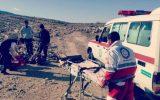 با همکاری هلال احمر و اورژانس/نجات یک مرد جوان در منطقه عشایری تخته نرم ماژین