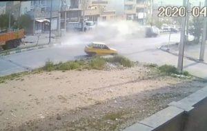 تصادف شدیر در بلوار شهرداری چالیمار ایلام
