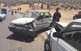 تصادف سه دستگاه خودرو در محور میشخاص حادثه آفرید