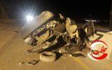 تخطی از سرعت مطمئنه در ایلام حادثه آفرید+عکس