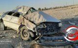 واژگونی شدید خودروی پژو۴۰۵ در محور مهران+تصویر