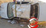 واژگونی شدید پژوپارس در جاده ایلام-مهران+تصویر