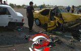 تصادف مرگبار در محور دهلران ۵ کشته و زخمی برجای گذاشت+عکس