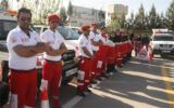 استقرار نیروهای هلال احمر در مناطق مختلف ایلام