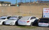 توقیف ۱۶ دستگاه خودرو در شهرستان ایوان