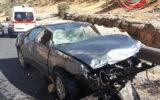 واژگونی شدید سواری پژو در محور ایلام به بدره+عکس