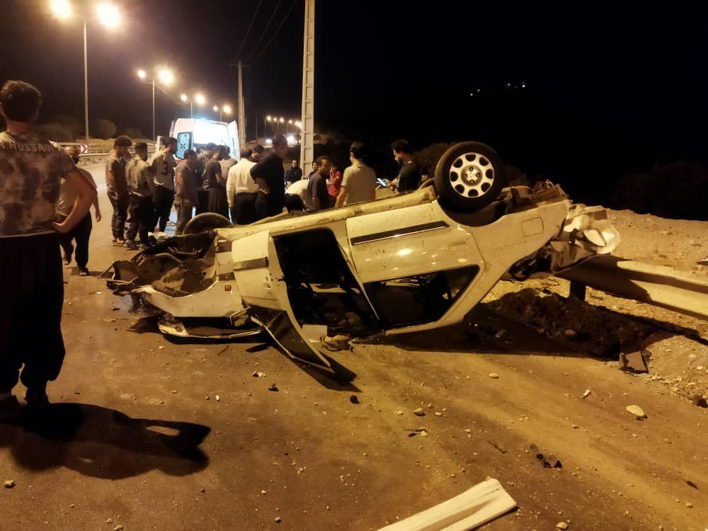 تصادف شدید پژو با کامیون