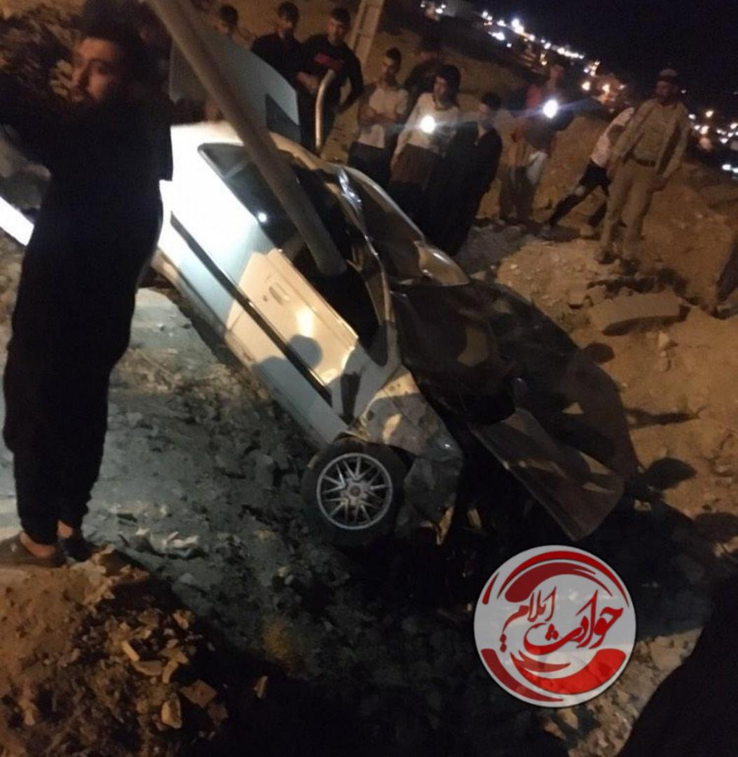 سرعت غیرمجاز  در ایلام حادثه آفرید+عکس