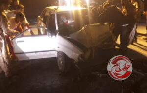تصادف سمند و پراید در محور مهران حادثه آفرید+عکس
