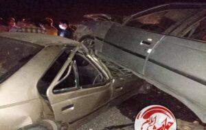 گزارش تصویری/برخورد دو دستگاه سواری پژو ۳ نفر مجروح بر جای گذاشت