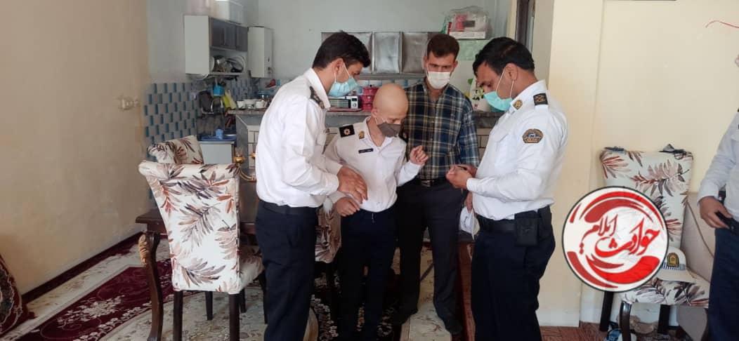 برآورده شدن آرزوی یک نوجوان سرطانی در شهرستان آبدانان/ «حسین» پلیس یار شد
