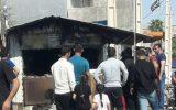 یک باب مغازه در میدان امام حسین(ره) آبدانان دچار آتشسوزی شد