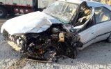 تصادف خودروی سمند با پژو۴۰۵ حادثه آفرید