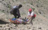 نجات مرد ۶۰ ساله گرفتار شده در ارتفاعات در ایلام