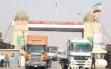 صادرات ۱۲۴ میلیون دلار کالا از مرز مهران به عراق