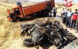 فوت راننده سواری پژو ۴۰۵ بر اثر انحراف به چپ در هلیلان