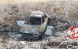 آتش سوزی سواری پراید در مهران+عکس