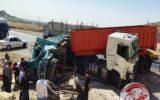 تصادف شدید تریلی با کامیون در محور مهران